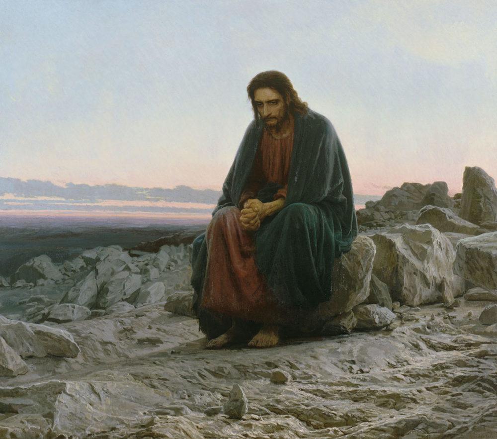 Kramskoy-Christ-in-the-desert-1000x883