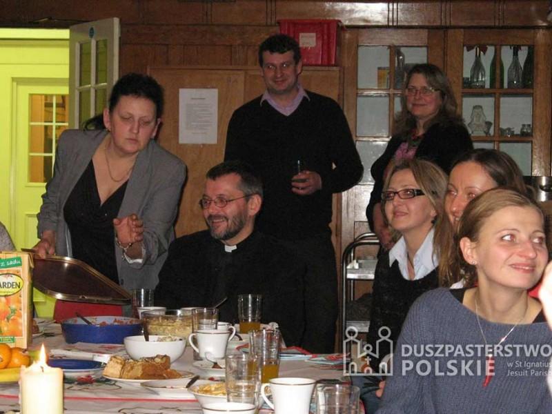 Spotkanie ze współpracownikami Prafii Św Ignacego